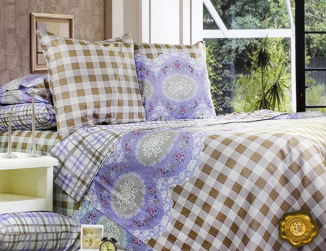 Комплект постельного белья Евро, Бязь-100% хлопок (2-х сп.ЕТ0398)