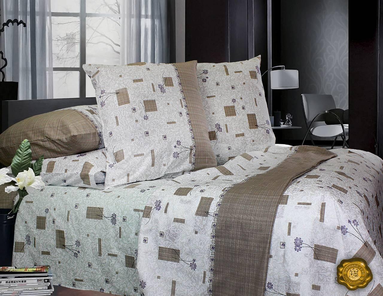 Комплект постельного белья Евро, Бязь-100% хлопок (2-х сп.ЕТ0412)