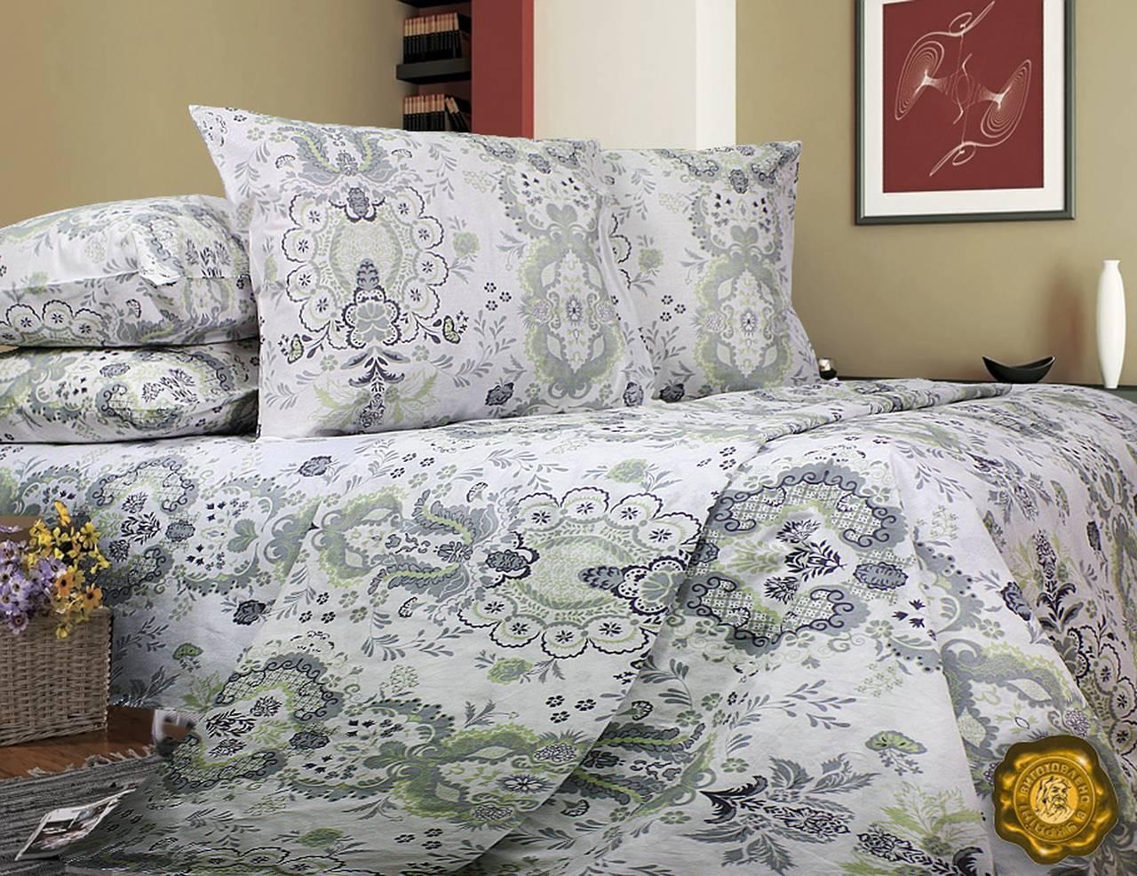 Комплект постельного белья Евро, Бязь-100% хлопок (2-х сп.ЕТ0437)
