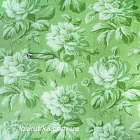 37025 Розы шарм (фоновая). Ткань с набивным рисунком. Ткани с цветочками для кукол, рукоделия, декора и шитья.