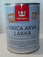 Лак для окон и дверей уника Аква Лакка (Tikkurila unica akva lakka)  0.9л