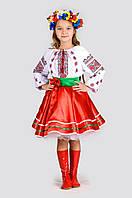 Детский украинский костюм для девочки Украинка Настуся, рост 110-140
