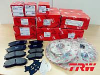 Колодка тормозная AUDI, BMW, FORD, MB, OPEL, PORSCHE, VW, VOLVO задняя (пр-во TRW), GDB101