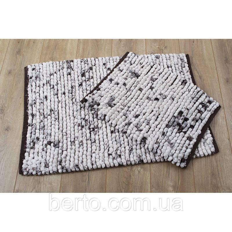 Набор ковриков для ванной комнаты Irya - Ottova kahve кофе 60*90+40*60