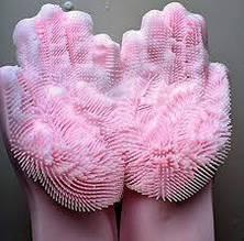 Силиконовые перчатки для мытья посуды