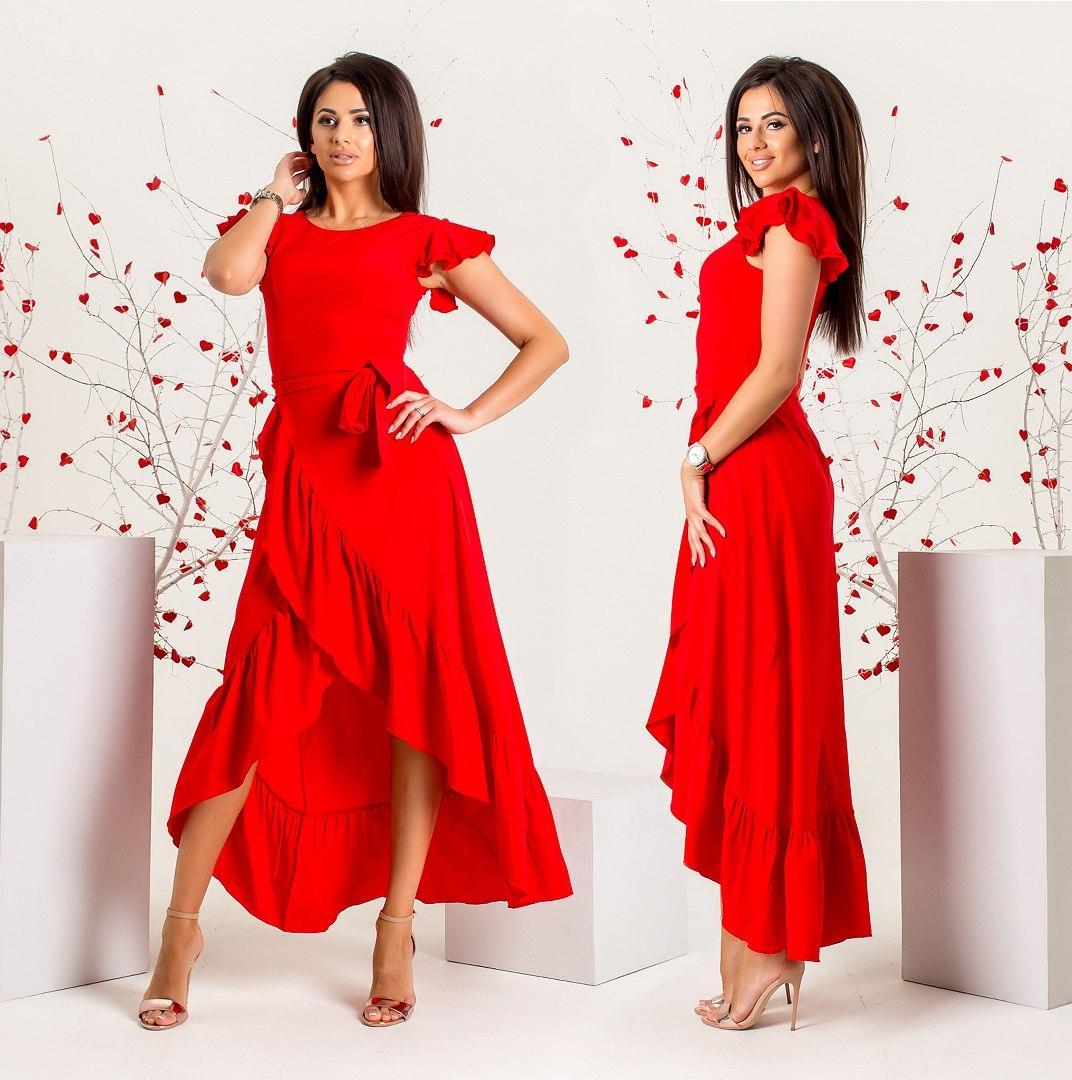 Красное платье в пол большого размера