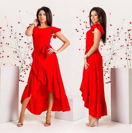 Красное платье в пол большого размера, фото 2
