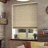 Римская штора Лен-файн бежевый, фото 2