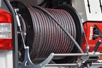"""Шланг для прочистки канализации высоким давлением, тип """"Профессиональный"""" 120 mtr. 5/8"""
