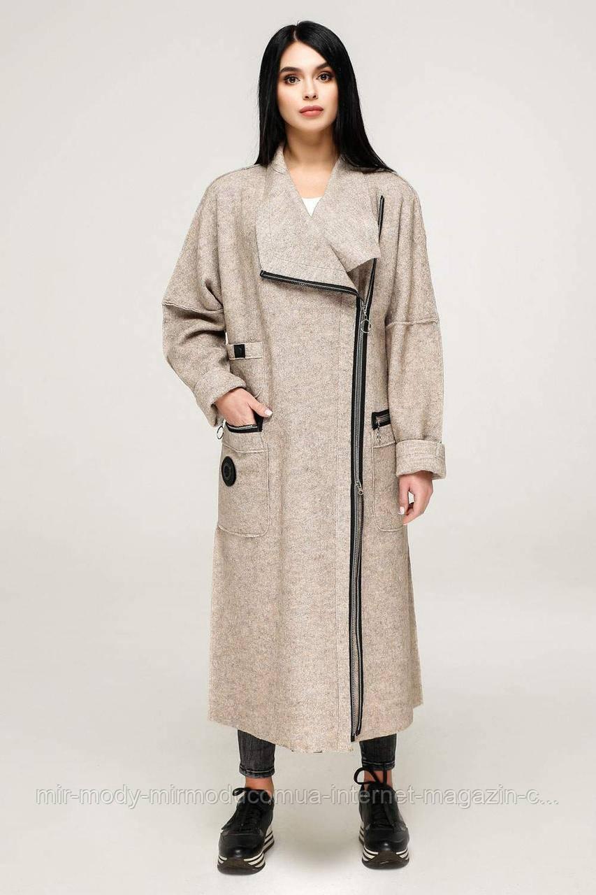 Пальто  демисезонное женское В-1193 Вар. шерсть Тон 34  (4 расцветок) с 44 по 56 размер (фт)