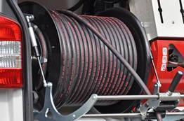 """Шланг для прочищення каналізації високим тиском, тип """"Професійний"""" 80 mtr. 5/8"""
