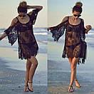 Туника пляжная из мягкого гипюра свободного кроя, фото 4