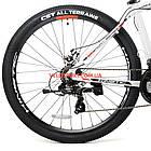 """Горный велосипед Kinetic Storm 27.5 дюймов 17"""" белый, фото 6"""