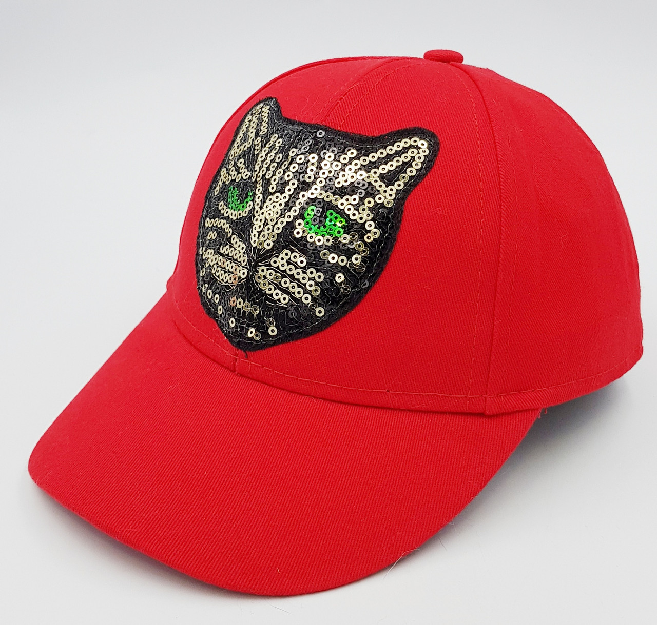 Женская бейсболка Klaus Кошка  Коттон Красный One size -Демисезон (036-К)