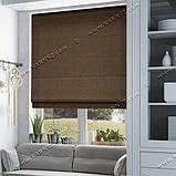 Римская штора Лен-лайт шоколадный коричневый, фото 2