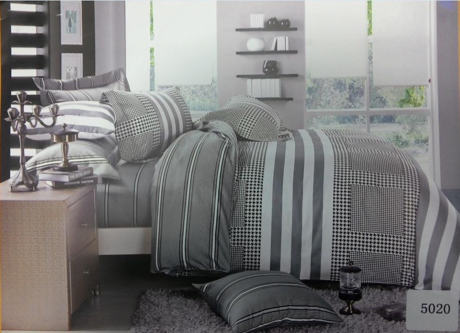 Сатиновое постельное белье семейное ELWAY 5020
