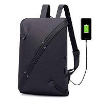 75f5d15feef7 Многофункциональный вместительный рюкзак UNO bag Black c выходом для USB и  наушников