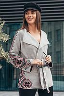 Жакет Катарина 42-52 серый-красный, фото 1