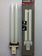 УФ лампочка Philips PL-S 9W, сменная для УФ ламп, фото 1