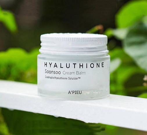 Глубокоувлажняющий Крем-бальзам для лица A'PIEU Hyaluthione Soonsoo Cream Balm, востанавлюющий, оригинал, фото 2