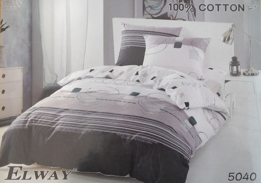 Сатиновое постельное белье семейное ELWAY 5040