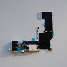 Шлейф Novacel для Apple iPhone 5S коннектора зарядки коннектора навушників з мікрофоном White