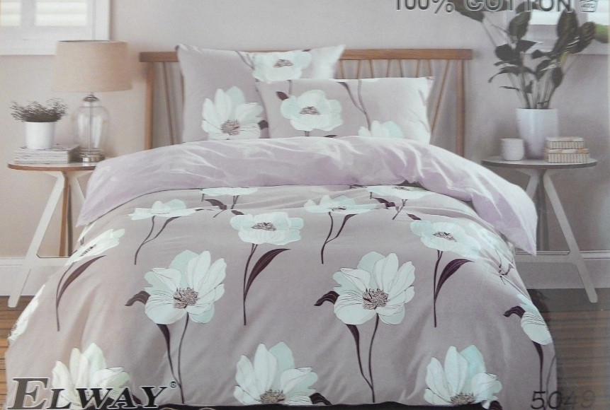 Сатиновое постельное белье семейное ELWAY 5049