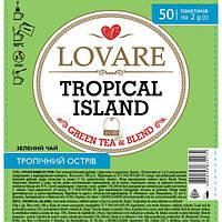 """Чай """"LOVARE"""" 50п*2г Тропічний Острів в прозорій плівці (1/9)"""