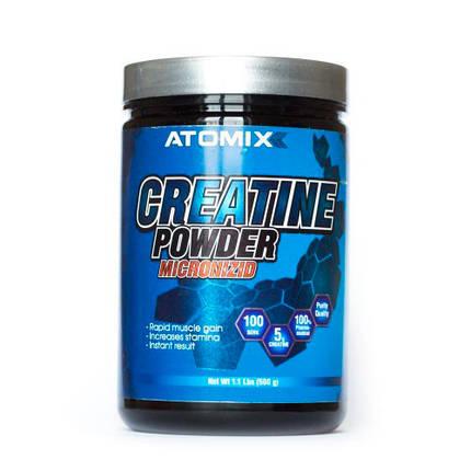 Креатин моногідрат Atomixx Creatine Powder Micronizid 300 г , фото 2