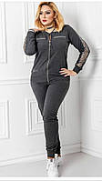 Спортивный костюм женский серый нарядный