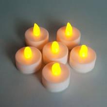Свеча LED электронная  с пламенем белый корпус