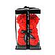 3D Мишка из латекстных роз с лентой в подарочной упаковке | Красный 25 см, фото 2