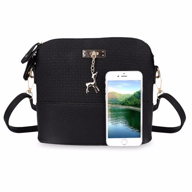 4b6562da2466 Стильная женская сумка через плечо Bembi | Маленькая сумочка Бэмби Черная