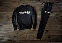 Мужской весенний спортивный костюм, чоловічий костюм Thrasher (черный), Реплика