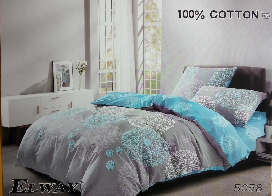 Сатиновое постельное белье семейное ELWAY 5058