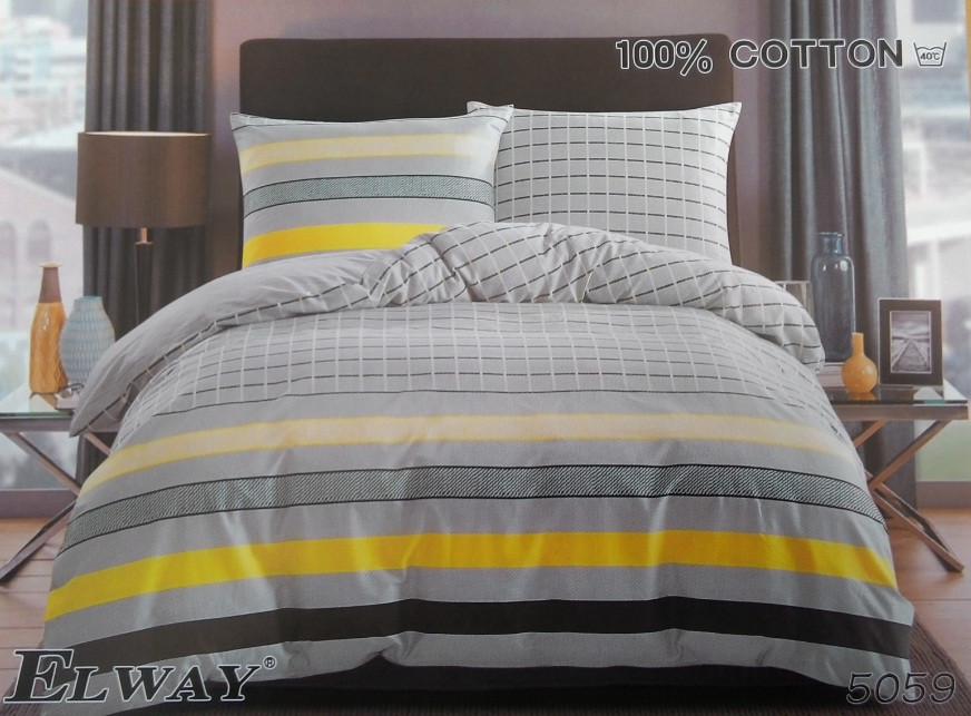 Сатиновое постельное белье семейное ELWAY 5059