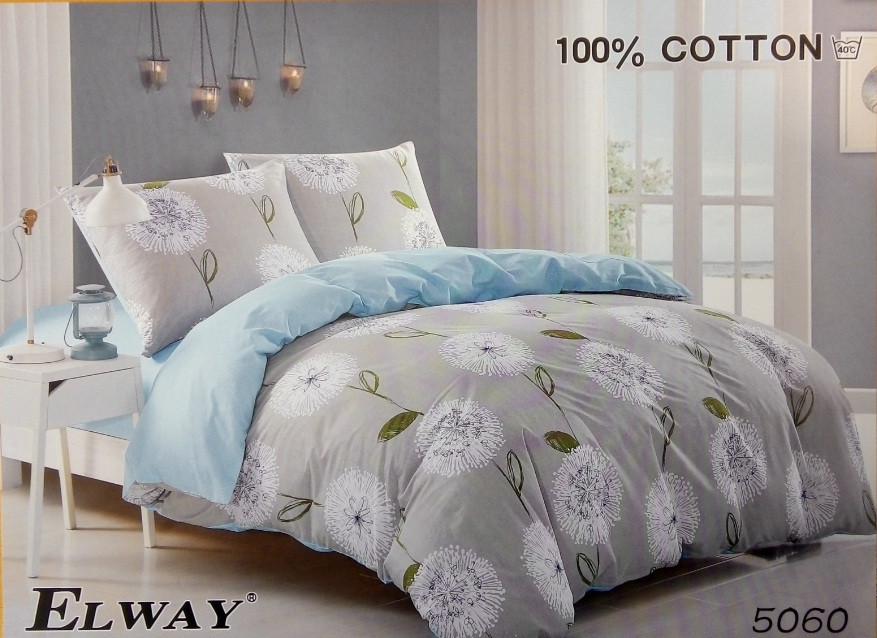 Сатиновое постельное белье семейное ELWAY 5060