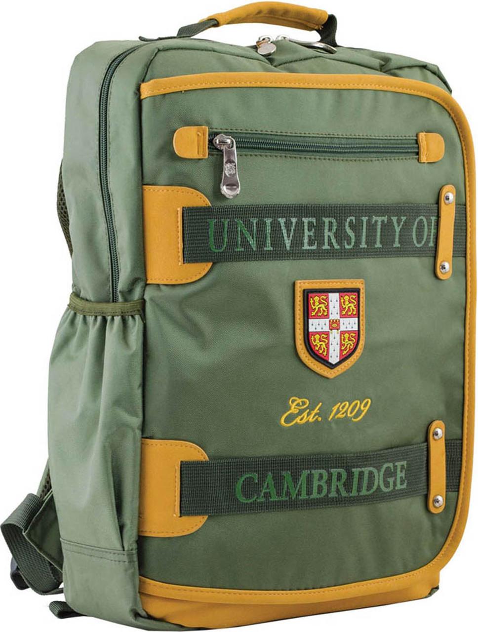 Рюкзак подростковый CA 076, зеленый, 29*43*12