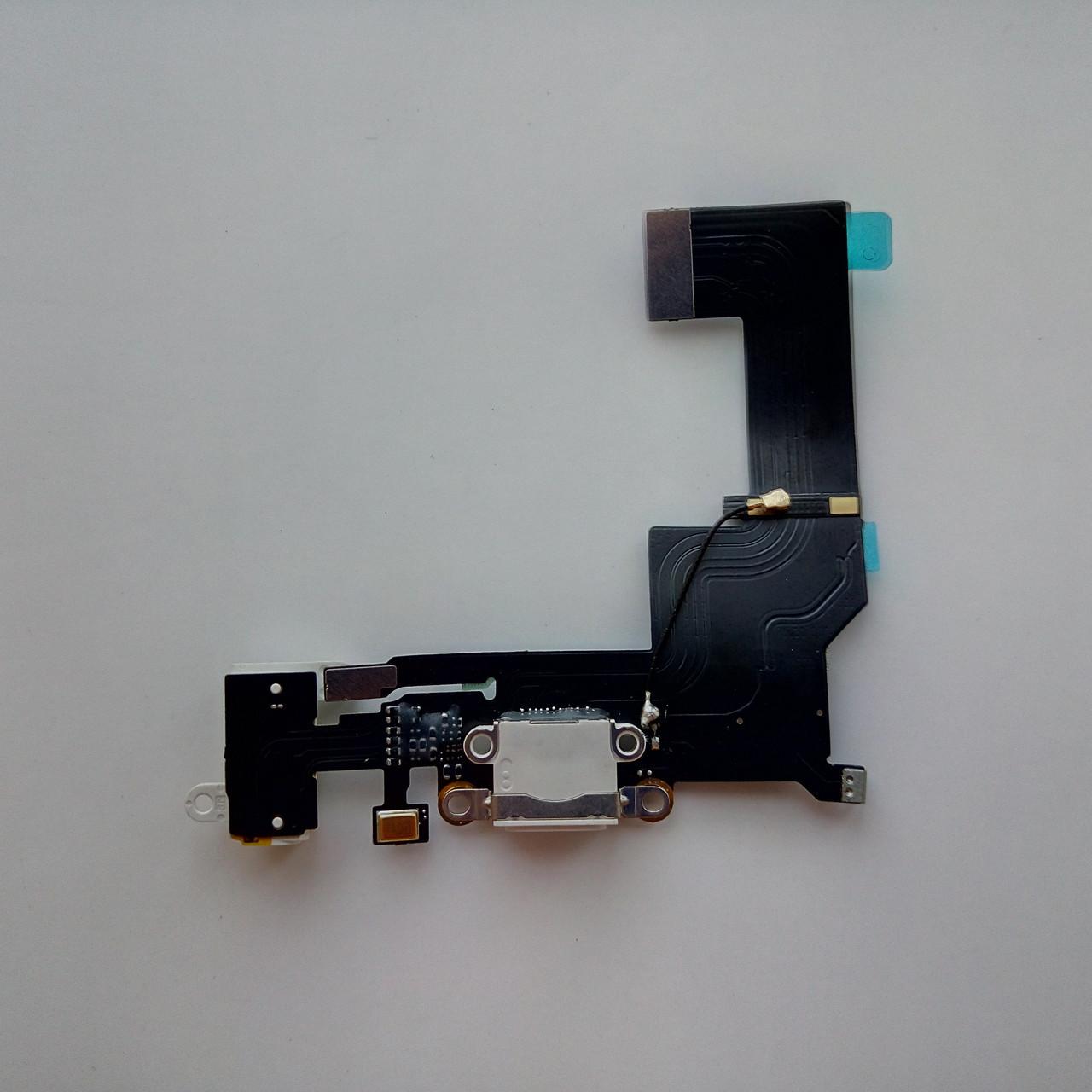 Шлейф для Apple iPhone SE,коннектора зарядки,коннектора наушников,с микрофоном,с компонентами white