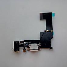 Шлейф Novacel для Apple iPhone SE коннектора зарядки коннектора навушників з мікрофоном White