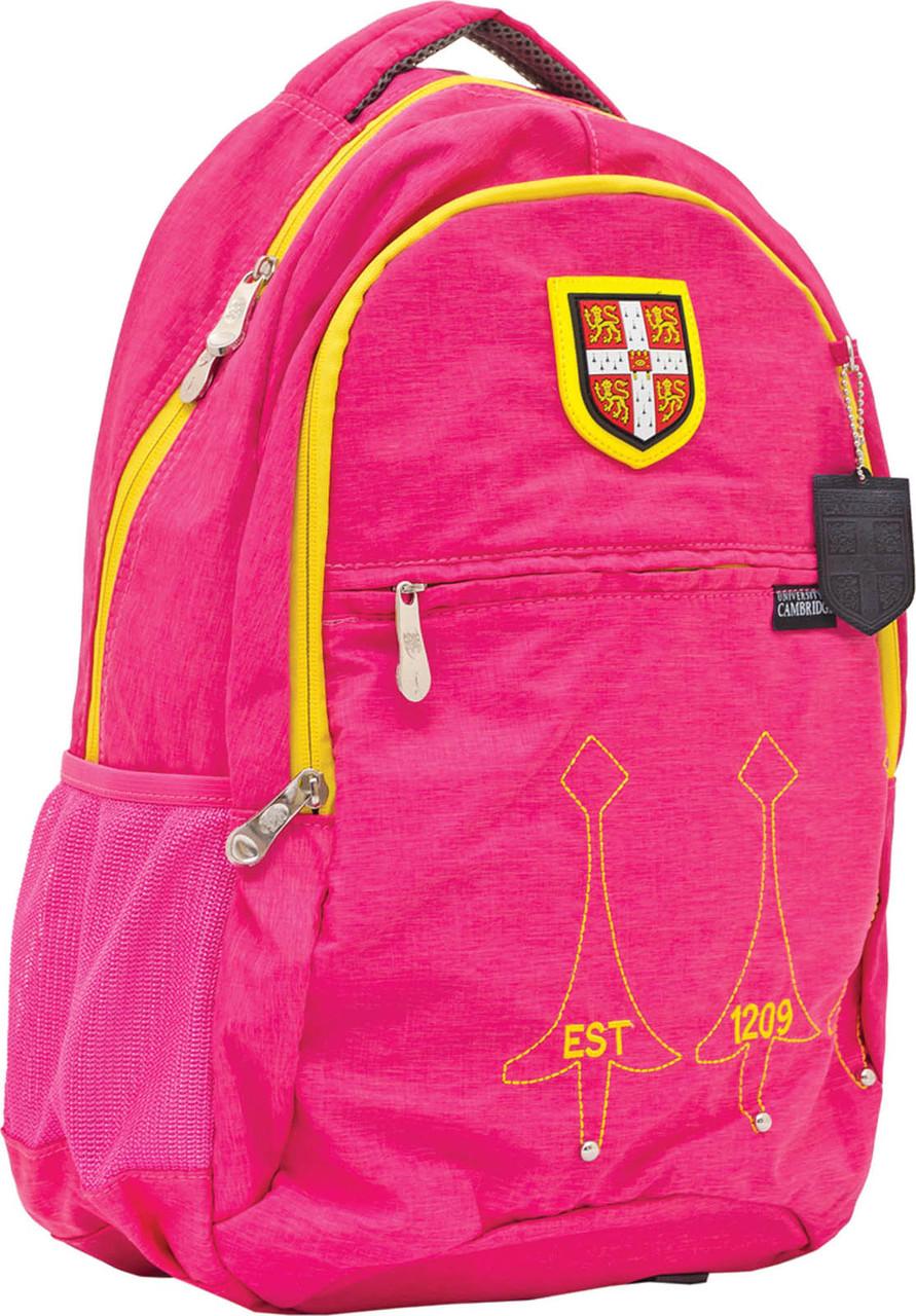 """Рюкзак подростковый CA060 """"Cambridge"""", розовый, 29*14*46см"""
