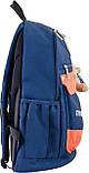Рюкзак подростковый OX 288, синий, 30.5*46.5*17, фото 2