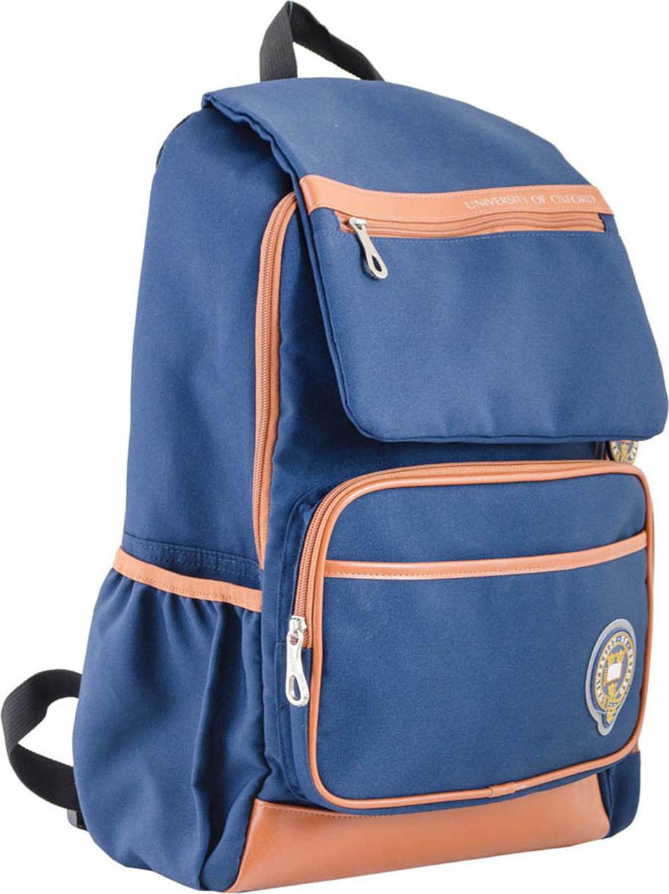 Рюкзак подростковый OX 293, синий, 28.5*44.5*12.5
