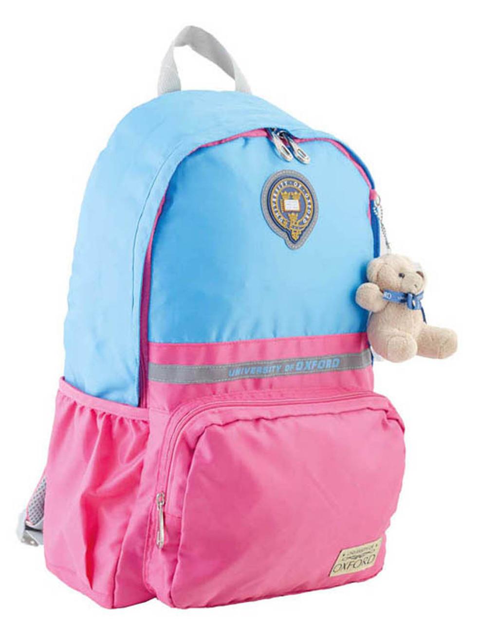 Рюкзак подростковый OX 311, голубой-розовый, 29*45*13