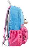Рюкзак подростковый OX 311, голубой-розовый, 29*45*13, фото 2