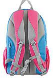 Рюкзак подростковый OX 311, голубой-розовый, 29*45*13, фото 4