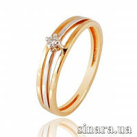 Золотое кольцо с бриллиантами 27260