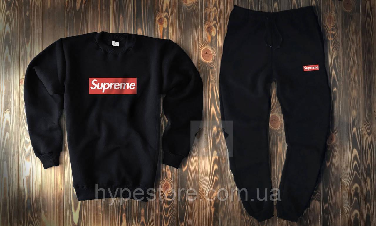 Мужской весенний спортивный костюм, чоловічий костюм Supreme (крупный лого), Реплика