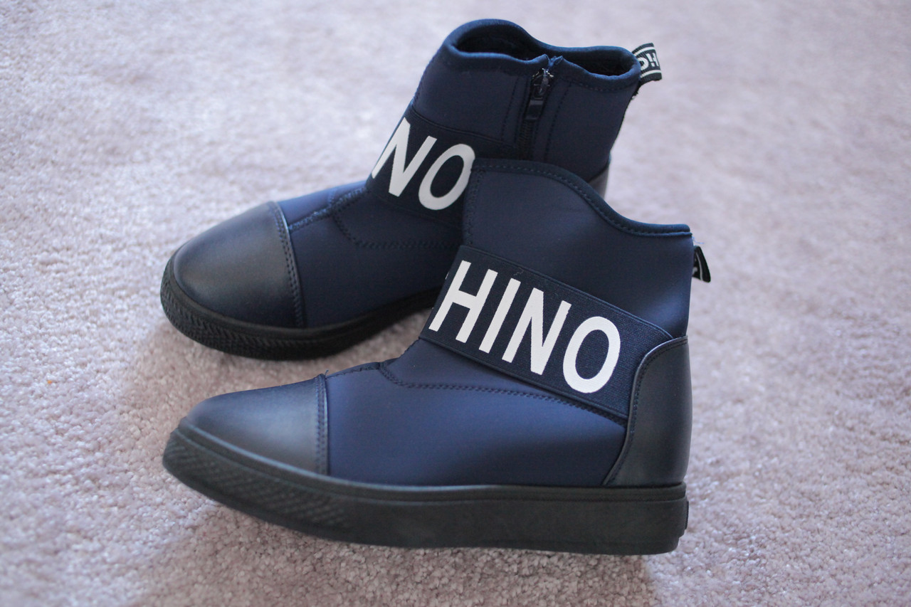 Женские сникерсы ботинки в стиле Moschino синие 36-41