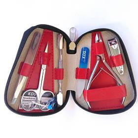 Манікюрний набір KDS 04-7103 (червоний чохол)